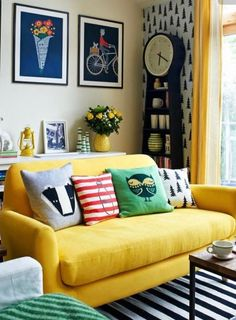 These cute throw pillows would be easy to DIY with little sewing or quilting experience