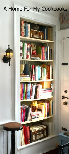 Bookcase closet on pinterest bookcases closet doors and for Bookcase closet