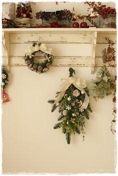 【クリスマス】モミのスワッグつくりました|Flower note の 花日記 (横浜・上大岡 アレンジメント教室)