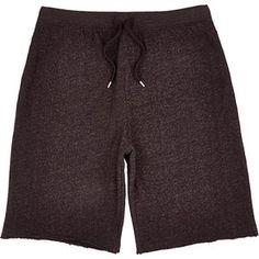Burgandy jersey men's shorts