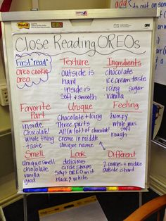 Stuckey in Second: Close Reading with Oreos {by Primary Polka Dots} Close Reading Lessons, Close Reading Strategies, Reading Skills, Teaching Reading, Guided Reading, Teaching Ideas, Reading Activities, Reading School, Reading Homework