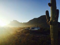 Sunrise at Picacho State Park Arizona with the 4 Corners Airstream group.