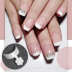 French Manicure Nails, Oval Nails, French Nails, Pink Nails, French Manicure With A Twist, Nail Art Designs Videos, French Tip Nail Designs, Fingernail Designs, Nails Now