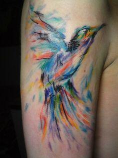 I love watercolor tattoos!