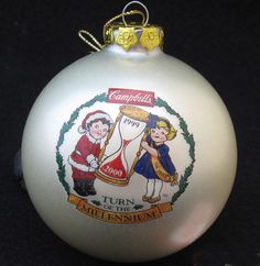 CAMPBELL SOUP COMPANY CAMPBELL KIDS COLLECTOR CHRISTMAS ORNAMENT 1999 MILLENNIUM #CampbellSoupCompany