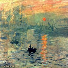 Wieco Art Impression, Sunrise by Claude Monet Famous Oil Paintings Reproduction Modern Framed Giclee Canvas Prints Seascape Artwork Sea Pictures on Canvas Wall Art for Living Room Home Decorations Claude Monet Pinturas, Monet Paintings, Beach Paintings, Kunst Poster, Poster Prints, Art Prints, Canvas Prints, Oil Painting Reproductions, Impressionism Art