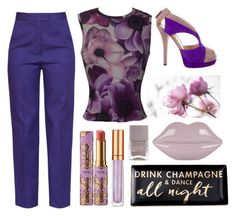 """""""Purple Rain"""" by bysc ❤ liked on Polyvore featuring MSGM, Versace, Rosanna, Fendi, Lulu Guinness, Elizabeth Arden, Nails Inc. and tarte"""