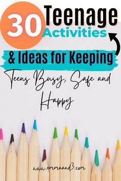Parenting or Educating Teenagers then you need to read these 30 activities to keep them busy, safe and happy - most are free too! Parenting Teenagers, Good Parenting, Parenting Hacks, Learning Courses, Kids Learning, Free Educational Apps, Homemade Bath Bombs, Upcycling Projects, Home Schooling