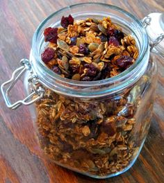 Pumpkin Granola...with no oil...I have never tried a granola recipe with no oil.
