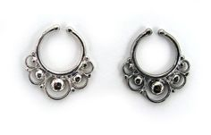 Fake faux Italy Sterling SILVER SEPTUM RING ornate nose piercing PALINA DESIGN10