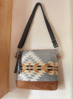 Pendleton Oregon Fabric Purse / Handbag/ Messenger by cindymars7