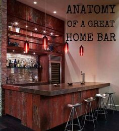 Home bars are as different and varied as the people who own them.  Some are eclectic and eye-catching while others are clean and contemporary. They can be large or small; located in basements, garages, or backyards; and reflect the owners' personalities and preferences. So what does it take to make a great home bar?