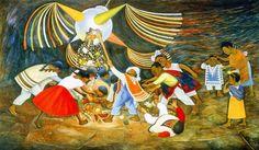 """""""La Piñata""""  Diego Rivera, 1953 Children's Hospital of Mexico"""