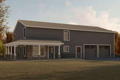 Modern Style House Plan - 4 Beds Baths 2160 Sq/Ft Plan This modern design floor plan is 2160 sq ft and has 4 bedrooms and has bathrooms. Pole Barn House Plans, Pole Barn Homes, Shop House Plans, Best House Plans, House Floor Plans, Garage House Plans, Metal House Plans, Pull Barn House, Shop Plans