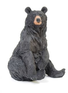 This Sitting Bear sculpture is a great addition to any home or cabin. The sculpture is made from sturdy fine resin material and is carefully hand-painted to ensure realistic coloration. This bear will
