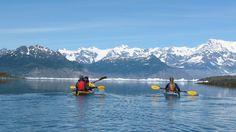Kayaking towards the glacier. Alaska. Photo by Jenny Gu.