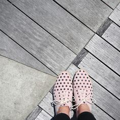 Seeing spots with the new Rollie Derby W pink & black spotted lace-up! http://www.shoeconnection.co.nz/products/R7UHES4L1K1