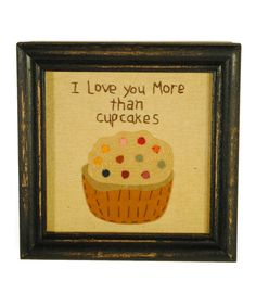 """I can make these for """"just because"""" gifts :)--- Loving this 'Cupcakes' Wall Art on #zulily! #zulilyfinds"""