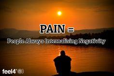 PAIN = / People Always Internalising Negativity