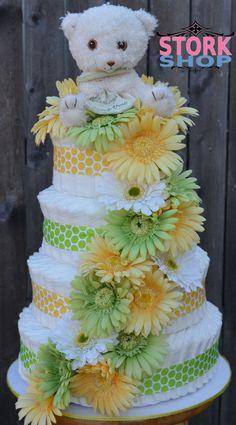 Items similar to DAISY 4 Tier Diaper Cake on Etsy