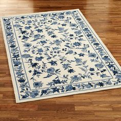 Blue Toile Rug Rugs Ideas