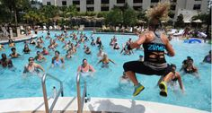 aquazumba, water aerobics, water running, water stretching, lap swim programs