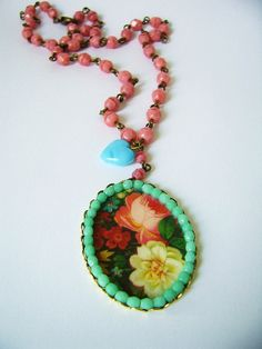 'Roses' necklace... silly old suitcase via Flickr