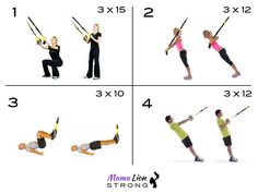 Basic Beginners Home Workout - Pregnant or Not. If your into home workouts consider investing in a TRX suspension training kit. It can be anchored to any door frame or taken with you when you travel.