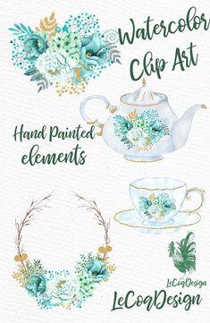 Decoupage Vintage, Decoupage Paper, Scrapbook Recipe Book, Watercolor Flower Wreath, Corona Floral, Floral Vintage, Wreath Drawing, Botanical Drawings, Diy Invitations