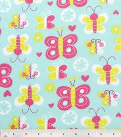 Snuggle Flannel Fabric- Happy Buterfly : flannel fabric : fabric :  Shop | Joann.com