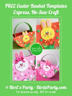 NO-Sew, Express Baskets for your Easter Egg Hunt! by Bird's Party