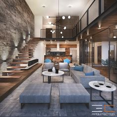 Home Stairs Design, Modern Home Interior Design, Loft Design, Home Room Design, Dream Home Design, Best Modern House Design, Modern Villa Design, Small Modern Home, Small Studio Apartment Design