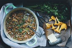 Chanterelle & Lentil Soup by Green Kitchen Stories
