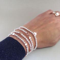 Rose Gold beaded Friendship Bracelets by Carminajewels on Etsy