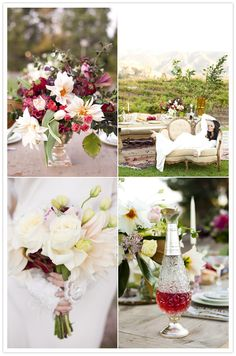 pink red and white flowers #mydecoWedding