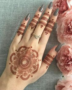 Explore latest Mehndi Designs images in 2019 on Happy Shappy. Mehendi design is also known as the heena design or henna patterns worldwide. We are here with the best mehndi designs images from worldwide. Henna Hand Designs, Eid Mehndi Designs, Mehndi Designs Finger, Pretty Henna Designs, Modern Mehndi Designs, Mehndi Design Pictures, Mehndi Designs For Beginners, Mehndi Designs For Girls, Mehndi Designs For Fingers