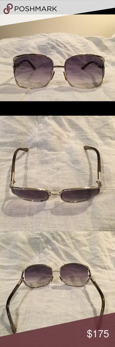 """Authentic Tom Ford Sunglasses, with cards Purchased from Nordstrom, 100% authentic. Comes with original case, cloth, and cards. Good condition. Could use a screw tightening on the ear stems, depending on your needed size. (I think my ex-boyfriend put them on to be """"funny"""" and stretched them a bit. ) Made in Italy. Tom Ford Accessories Sunglasses"""