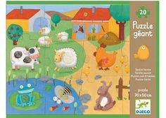 vrolijke voelpuzzel met 20 stukken DJECO | kinderen-shop Kleine Zebra