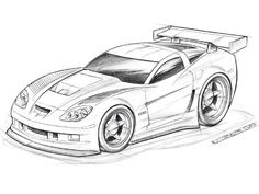 Cartoon Car Drawings Sketches