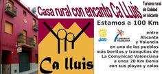 Donde está casa rural Ca LLuis en Alicante | Ca LLuis | Casa Rural en Alicante | Vacaciones Costa Blanca