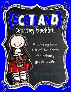 Scotland Booklet (A Country Study!) -- Use during social studies units about countries around the world! Teaching Geography, Primary Teaching, Teaching Activities, Travel Activities, Around The World Theme, Holidays Around The World, Kindergarten Homeschool Curriculum, Continents And Oceans, World Thinking Day