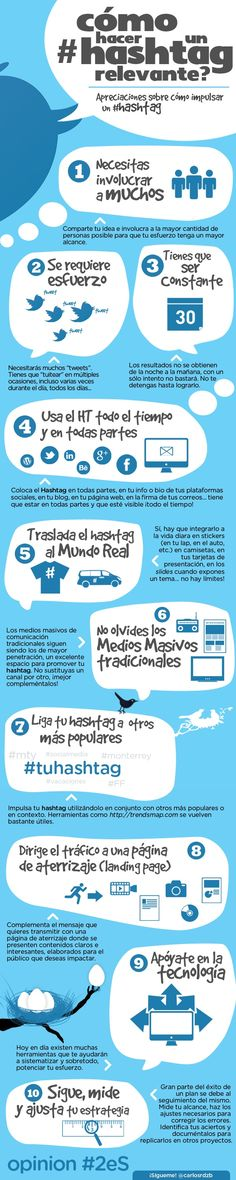 ¿Cómo hacer un #hashtag relevante? #Infografía en español #emprender #empreujat #empreaccionate