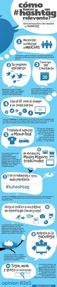 ¿Cómo hacer un #hashtag relevante? #Infografía en español