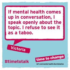 Victoria shares about her experiences of anxiety and depression, and how she challenged the taboo of mental illness. #TimeToTalk
