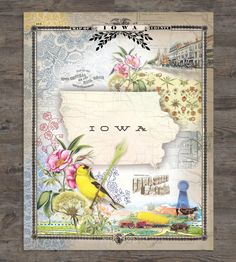 Iowa State Collage Art Print by Drunk Girl Designs on Scoutmob Shoppe