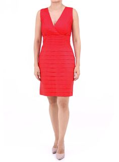 Vestido Rojo de Lino 100%