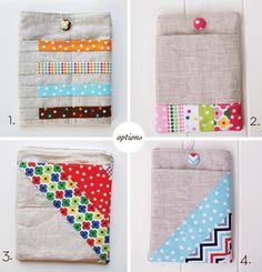 ipad, kindle and nook sleeve sewing pattern tutorial || Anne Kelle