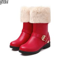Find More Mid-Calf Boots Information about QZYERAI New Fashionable Warm Snowshoe Thick Wool Cold   Proof Female Boots Wear   Resistant and Comfortable Female Shoes Size 43,High Quality Mid-Calf Boots from Shop GG Store on Aliexpress.com Party Shoes, Winter Shoes, Mid Calf Boots, Chunky Heels, Low Heels, Female Boots, Snowshoe, Lady, Birthday Invitations