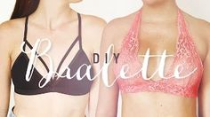 DIY BRALETTE | EASY SEWING PROJECT | THE SORRY GIRLS - YouTube