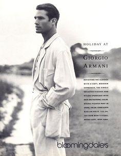 Giorgio Armani Fall/Winter 1988 Model Terrence Sheahan